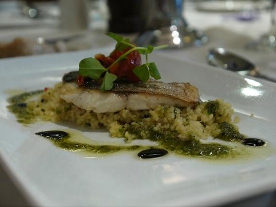 Lodore Falls Lake View Restaurant : Sea Bass with Cous Cous