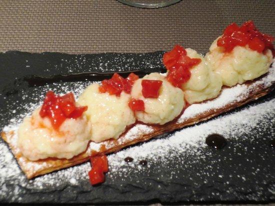 Sopranis : miile feuille fraises et crème vanille