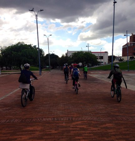 Bogota Bike Tours: On the go.