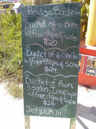 Tropical Paradise Hotel: Daily Specials