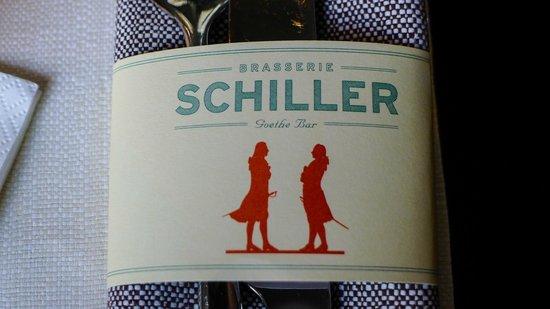 Brasserie Schiller: Where Schiller meets Goethe, beautiful Brasserie / Bar logo with cutlery