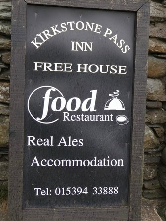 Kirkstone Pass Inn: Great Food and Ales