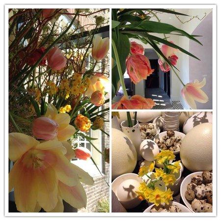 Sofitel Legend The Grand Amsterdam: Fresh flower arrangements and Easter decor at The Grand Sofitel
