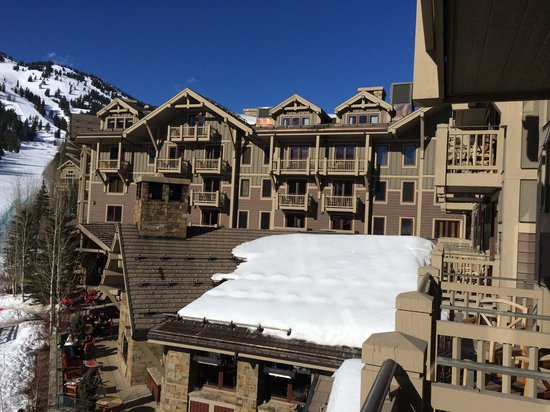 Four Seasons Resort and Residences Jackson Hole: View of hotel from our room