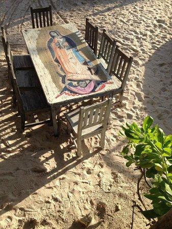 La Zebra Colibri Boutique Hotel : Beautiful Art on Tables