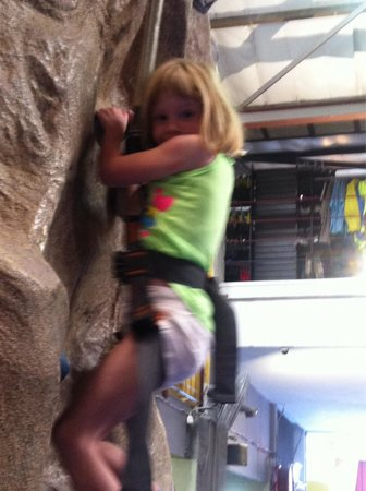 CityROCK Indoor Climbing: Out 6 year old having a ball.