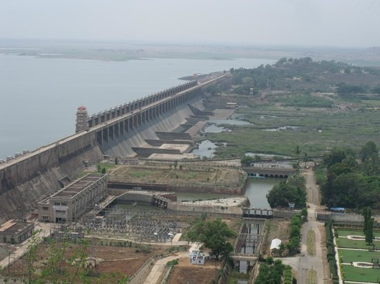 Hospet, Indie: View from the dam