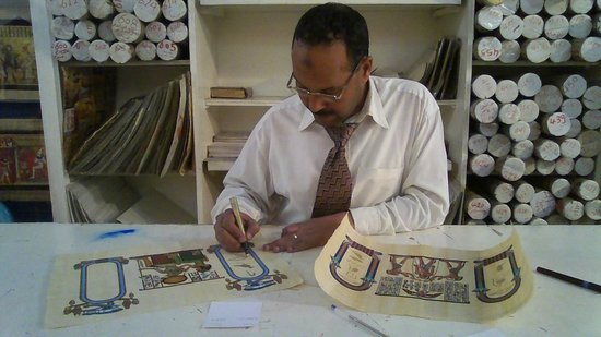 Papyrus  Shop: Writing some Cartouches  for me!