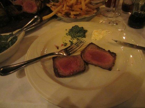 Keens Steakhouse: Zartes Fleisch