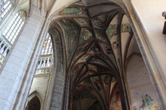 Cathedral of St. Barbara: beleza das abóbodas do teto