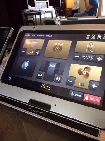 The Peninsula Hong Kong : Il tablet della camera
