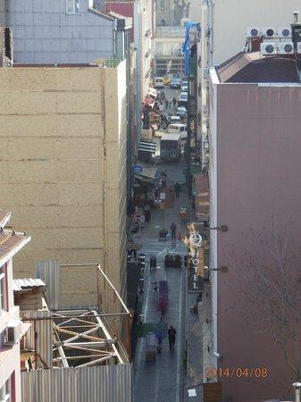 Utsikt från taket till Orka Royal hotel