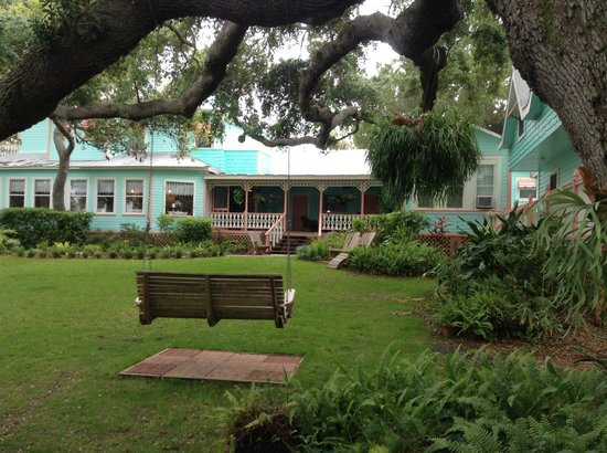 """Cedar Key Bed and Breakfast: View from our """"Ritz Cracker"""" looking at veranda/porch area"""