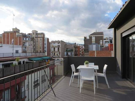 Eric Vokel Boutique Apartments - BCN Suites : Eric Vokel BCN Suites penthouse front terrace