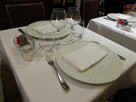 L'Orangerie : la table dressée