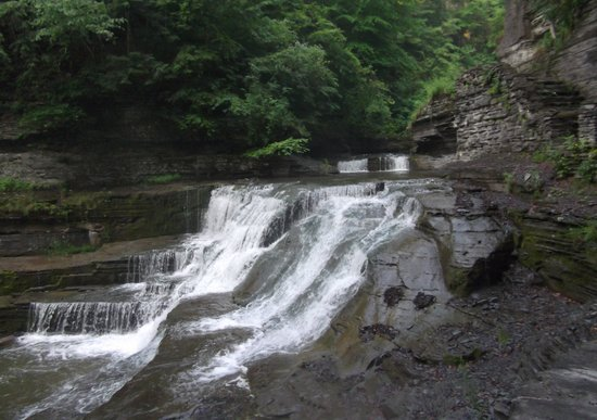 Robert Treman State Park: rocks, greenery, moving water: as usual, a winning combination