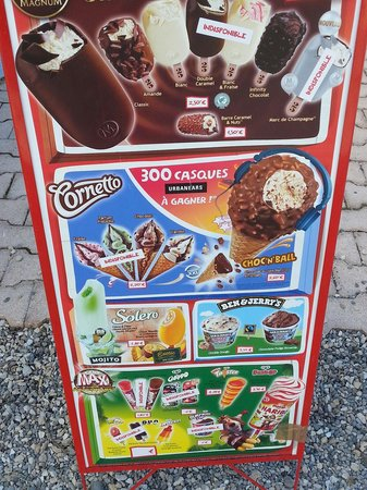 Camping Tohapi Domaine des Iscles: Voici les glaces disponibles le 29 avril , les enfants non pas beaucoup de choix voir pas  !!!!!