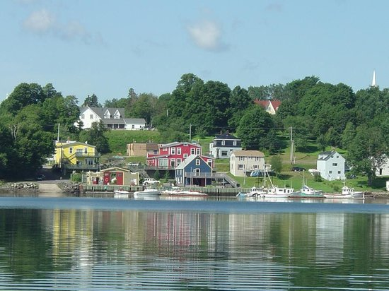 Pepperlane Manor: A view of Guysborough and Pepperlane from the water