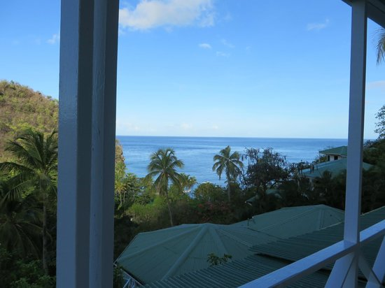 Anse Chastanet: view from the balcony