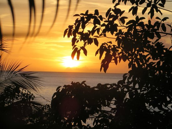 Anse Chastanet: sunset from the bar