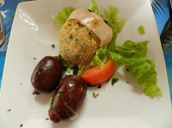 Restaurant La Marine : Boudins ,crabe farci