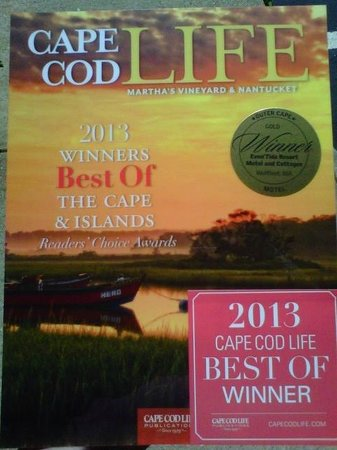 """Even'tide Resort Motel and Cottages: Voted """"Best Outer Cape Cod Motel"""" for 18 years."""