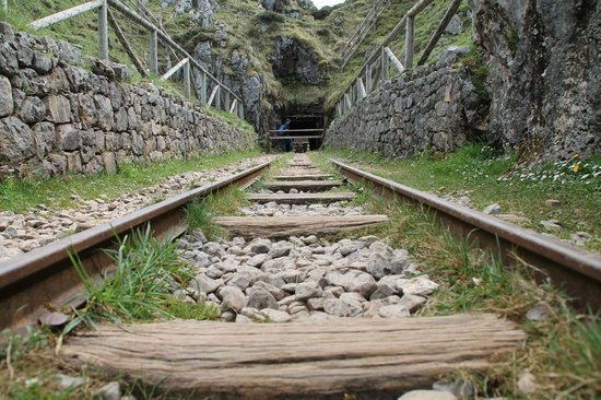 Lake Covadonga : The path takes you right through some of the old mine's tunnels