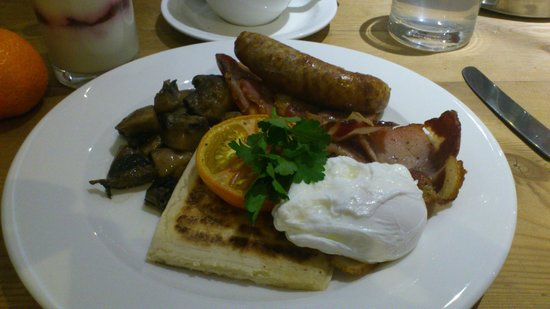 Brooks Hotel Edinburgh: Breakfast cuit à la demande