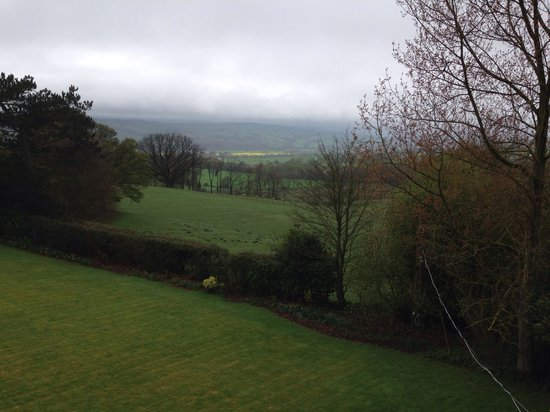 Helme Park Hall County House Hotel & Restaurant: The view from the bedroom - worth the extra cost?