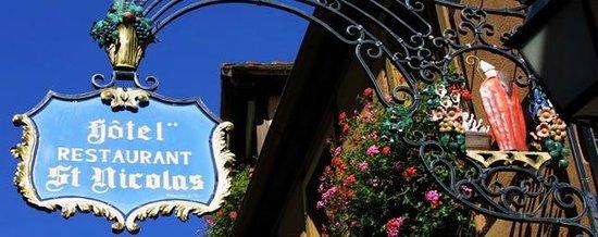 Hotel Restaurant Saint-Nicolas : enseigne rue st Nicolas