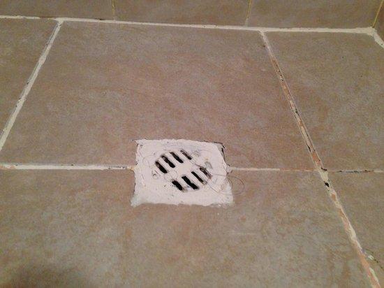Hostal Posada del Angel: En esta foto se puede notar que no limpiaron bien el baño de la habitación.
