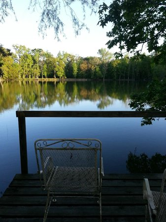 Cajun Country Cottages Bed and Breakfast : View from our private dock