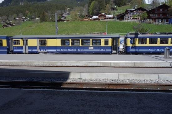 Derby Hotel: train to Interlaken