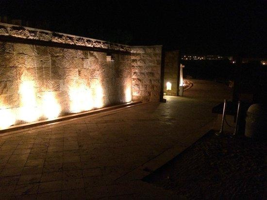 Kempinski Hotel Ishtar Dead Sea: parede com cascata de agua