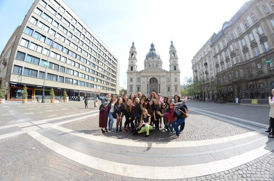 Next City Tours Budapest: Where it all started! Group with Anita :)