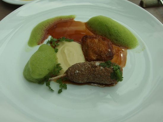 Tamka 43 Restaurant: Carne, pure e spuma vegetale