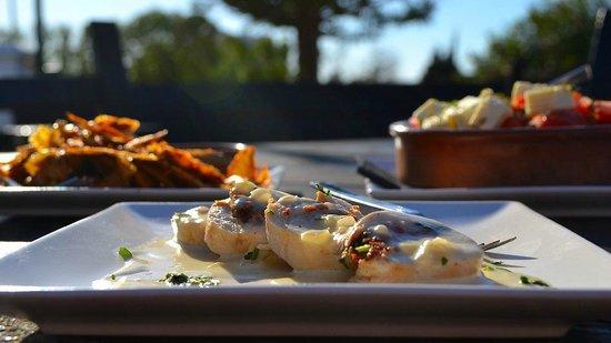 Stuffed Chicken, Cajun Potato Skins and Greek Salad - Picture of ...