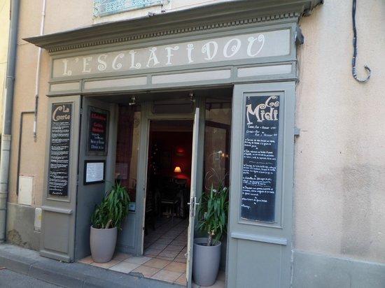 L' Esclafidou : La façade du restaurant