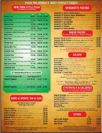 Munchy's Pizza: menu 2
