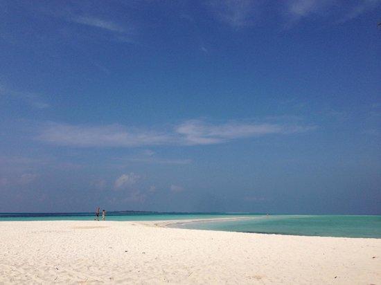 Kuredu Island Resort & Spa : Beach near Sangu villas
