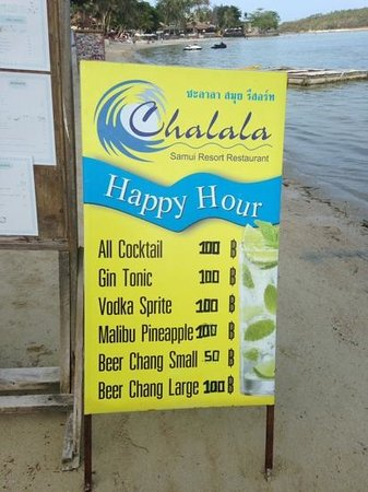 Chalala Samui Resort: Happy hour !