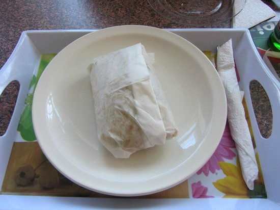 Lookout Restaurant & Bar: Wrapped chicken roti