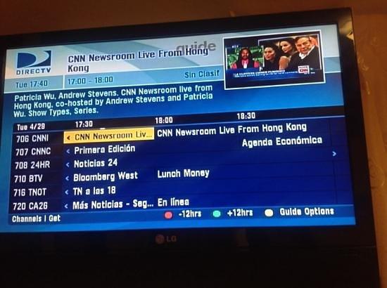 Encanto Hotel: direct tv... not bad