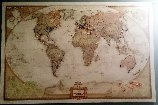 Ahoy! Hostel: The World Map where everybody pins its origin
