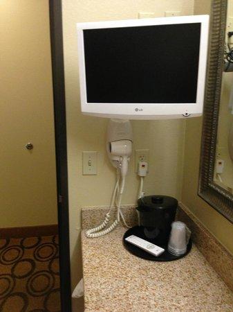 La Quinta Inn & Suites New Iberia : Tv in bathroom!