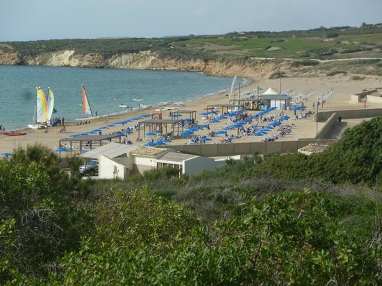 Club Med Kamarina : vue sur la grande plage