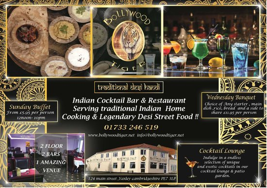 Bollywood Tiger: We specialise in indian home cooking and legendary Desi street food