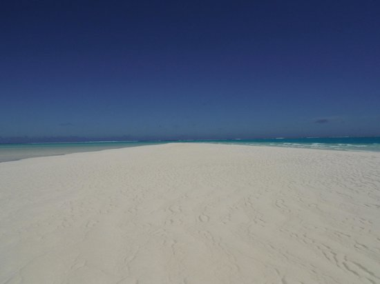 "Aitutaki Lagoon: ""Heaven"" the sandbar from which you can walk over to One Foot Island from."