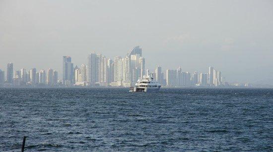 Flamenco Island: Vista de Ciudad de Panamá desde isla Flamenco
