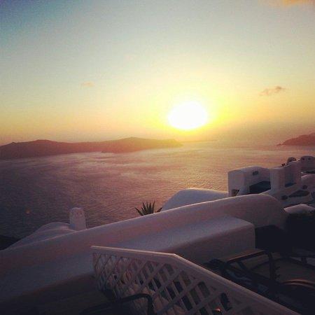 Sunset from Vallais Villas